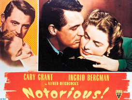 Movie Posters Wall Art as Canvas, Acrylic or Metal Print NOTORIOUS
