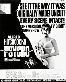 Movie Posters Wall Art as Canvas, Acrylic or Metal Print PSYCHO