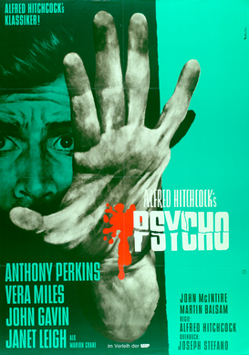 Movie Posters Wall Art as Canvas, Acrylic or Metal Print Psycho / Plakat