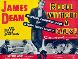 Filmposters bijv. als canvasfoto of wandfoto achter acrylglas: REBEL WITHOUT A CAUSE