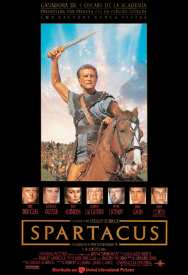 Movie Posters Wall Art as Canvas, Acrylic or Metal Print SPARTACUS