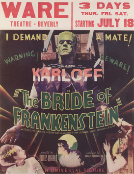 Movie Posters Wall Art as Canvas, Acrylic or Metal Print The Bride of Frankenstein / Aushang