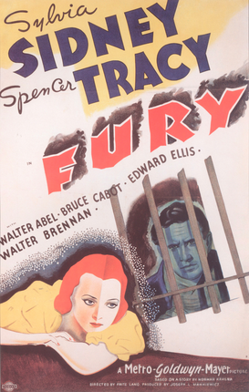 Movie Posters Wall Art as Canvas, Acrylic or Metal Print The Fury / Filmplakat