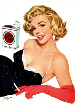 Vintage Ads Wall Art as Canvas, Acrylic or Metal Print Lucky Strike