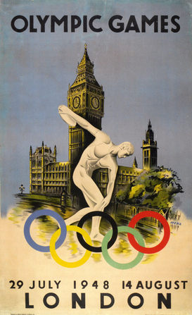Vintage Ads Wall Art as Canvas, Acrylic or Metal Print Olympic Games