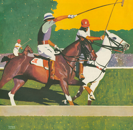 Vintage Ads Wall Art as Canvas, Acrylic or Metal Print Polo Players