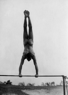 Athletics & movement pictures Wall Art as Canvas, Acrylic or Metal Print Handstand