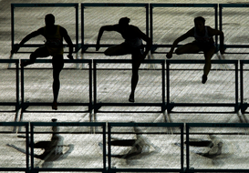 Athletics & movement pictures Wall Art as Canvas, Acrylic or Metal Print Hürdenlauf
