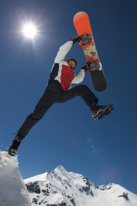 Extreme sports pictures Wall Art as Canvas, Acrylic or Metal Print Großglockner, Snowboard