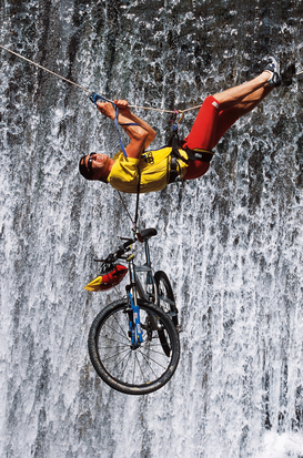 Extreme sports pictures Wall Art as Canvas, Acrylic or Metal Print Radfahren, Biking