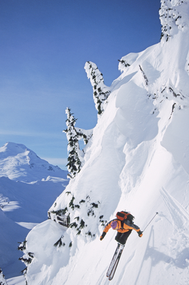 Deportes extremos Imágenes p.ej., como imagen en lienzo o para la pared en metacrilato: Skier on table mountain north cascades