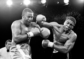 Full-contact sports pictures Wall Art as Canvas, Acrylic or Metal Print Frank Bruno v Tim Witherspoon