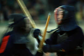 Full-contact sports pictures Wall Art as Canvas, Acrylic or Metal Print Kendo