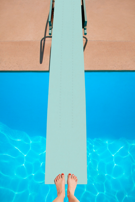 Sports pictures Wall Art as Canvas, Acrylic or Metal Print A diving board