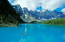 Season pictures Wall Art as Canvas, Acrylic or Metal Print Moraine Lake - Banff Nationalpark Canada