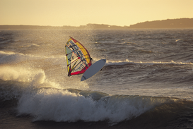 Water sports pictures Wall Art as Canvas, Acrylic or Metal Print WINDSURF ACTION
