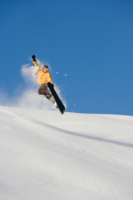 Winter sports pictures Wall Art as Canvas, Acrylic or Metal Print A man snowboarding
