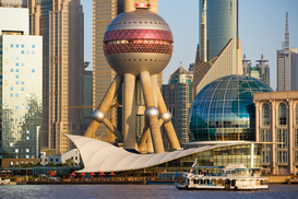 Pictures of Asia Wall Art as Canvas, Acrylic or Metal Print Oriental pearl tower