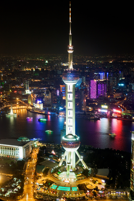 Pictures of Asia Wall Art as Canvas, Acrylic or Metal Print Oriental pearl tower shanghai