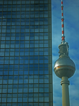 Berlin & Potsdam pictures Wall Art as Canvas, Acrylic or Metal Print Fernsehturm in Berlin