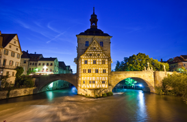 City pictures Wall Art as Canvas, Acrylic or Metal Print Altes Rathaus von Bamberg