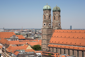 City pictures Wall Art as Canvas, Acrylic or Metal Print Munich frauenkirche