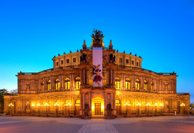 Germany pictures Wall Art as Canvas, Acrylic or Metal Print Semperoper