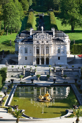 Germany pictures Wall Art as Canvas, Acrylic or Metal Print The Linderhof castle in Bavaria Germany