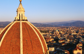 Pictures of Europe Wall Art as Canvas, Acrylic or Metal Print A distinctive feature of Florence's skyline is the dome of the cathedral ( Duomo ), Santa Maria del Fiore, the building itself, located due north of the Piazza della Signoria, was begun by the sculptor Arnolfo di Cambio in 1296  Florence, Tuscany, Italy