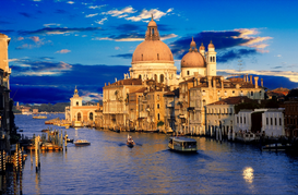 Pictures of Europe Wall Art as Canvas, Acrylic or Metal Print Canale Grande in Venedig