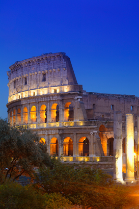 City pictures Wall Art as Canvas, Acrylic or Metal Print Colosseum, Rome, Italy