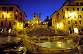 Pictures of Europe Wall Art as Canvas, Acrylic or Metal Print italy, rome , the spanish steps
