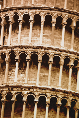 Pictures of Europe Wall Art as Canvas, Acrylic or Metal Print Leaning Tower of Pisa Tuscany Italy