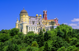 Pictures of Europe Wall Art as Canvas, Acrylic or Metal Print Portugal: Palacio da Pena in Sintra
