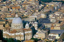 City pictures Wall Art as Canvas, Acrylic or Metal Print rome, vatican, aerial view