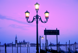 Pictures of Europe Wall Art as Canvas, Acrylic or Metal Print SAN GEORGIO AT DUSK VENICE ITALY