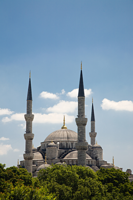 Pictures of Europe Wall Art as Canvas, Acrylic or Metal Print Sultan ahmed mosque in istanbul