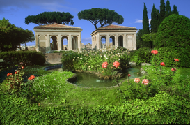Steden Foto's bijv. als canvasfoto of wandfoto achter acrylglas: THE GARDENS OF PALATINO ROME ITALY
