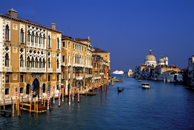 Pictures of Europe Wall Art as Canvas, Acrylic or Metal Print THE GRANDE CANALE AT VENICE ITALY