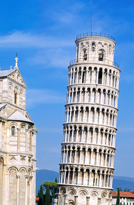 Europa Foto's bijv. als canvasfoto of wandfoto achter acrylglas: The LEANING TOWER OF PISA was begun in 1174 AD, stands 847 feet, and continues to settle as it did from its inception, ITALY