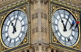 London pictures Wall Art as Canvas, Acrylic or Metal Print Big Ben maintenance