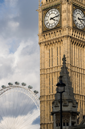 Affiches Londres pour les toiles ou images murales sous acrylique par exemple Houses of parliament and london eye