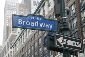 New York Foto's bijv. als canvasfoto of wandfoto achter acrylglas: Broadway is the main street for intertainment in New York