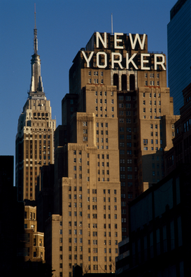 City pictures Wall Art as Canvas, Acrylic or Metal Print Hotel New Yorker