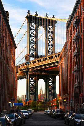Affiches New york pour les toiles ou images murales sous acrylique par exemple Manhattan bridge