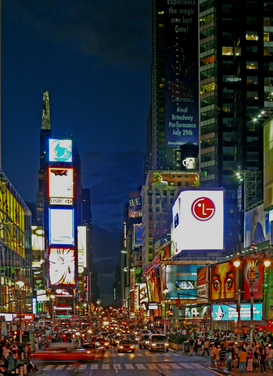 New York pictures Wall Art as Canvas, Acrylic or Metal Print Times Square