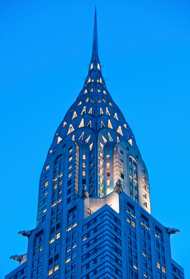 City pictures Wall Art as Canvas, Acrylic or Metal Print Top of Chrysler Building