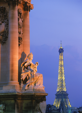 Paris pictures Wall Art as Canvas, Acrylic or Metal Print france, paris, column on pont alexandre iii with eiffel tower