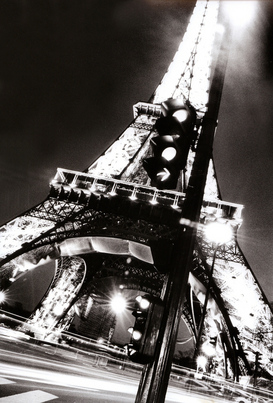 Parijs Foto's bijv. als canvasfoto of wandfoto achter acrylglas: france, paris, the eiffel tower at night (no property release)