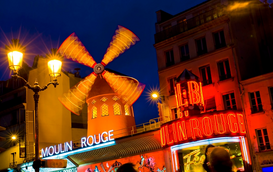 Paris pictures Wall Art as Canvas, Acrylic or Metal Print Moulin Rouge